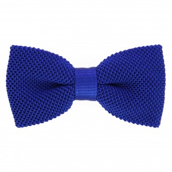 Royal Blue Knit Bowtie - Monza