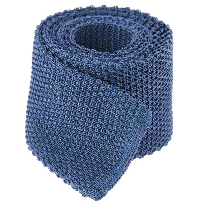 Steel Blue Knit Tie Blue Tie Knitted Tie The House Of Ties