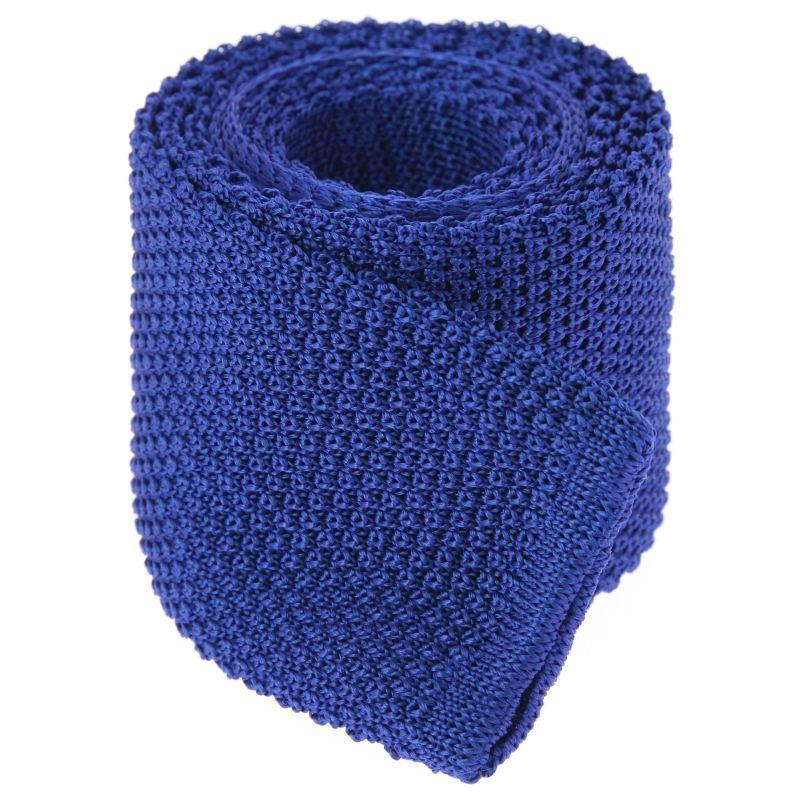 Knit Blue Tie - Monza