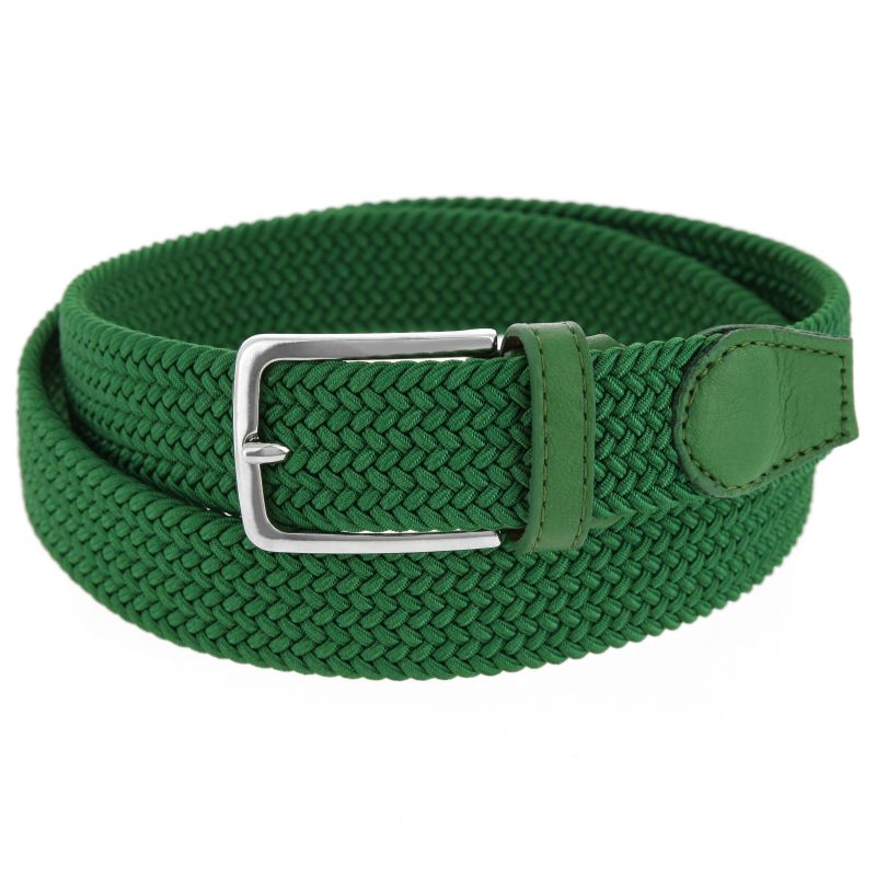 Elastic braided belt in green - Rob III