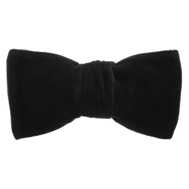 Navy Blue Bow Tie with Velvet The Nines