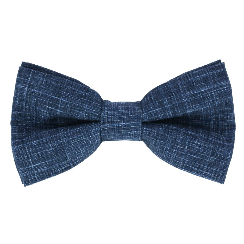 Denim Blue Bow tie in Chambray The Nines