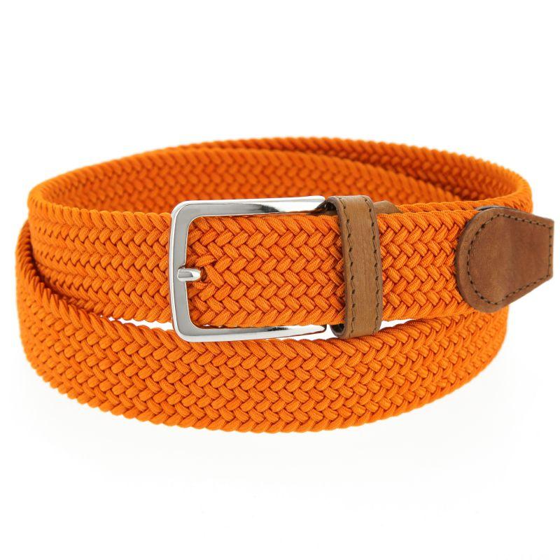 Elastic braided belt in Orange - Rob III