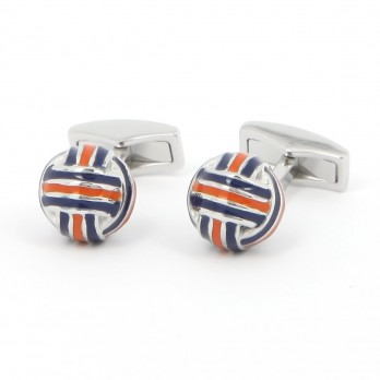 Blue and Orange sphere cufflinks - Cambon