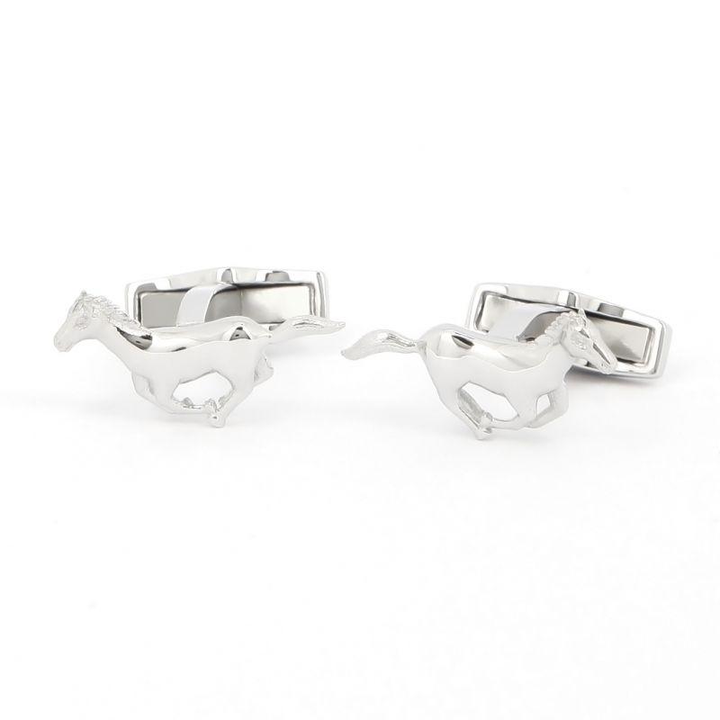 Sterling silver horse cufflinks - Diane