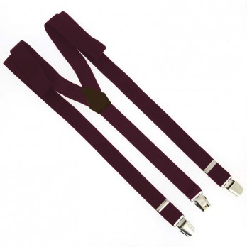 Burgundy flexible suspenders - The Nines