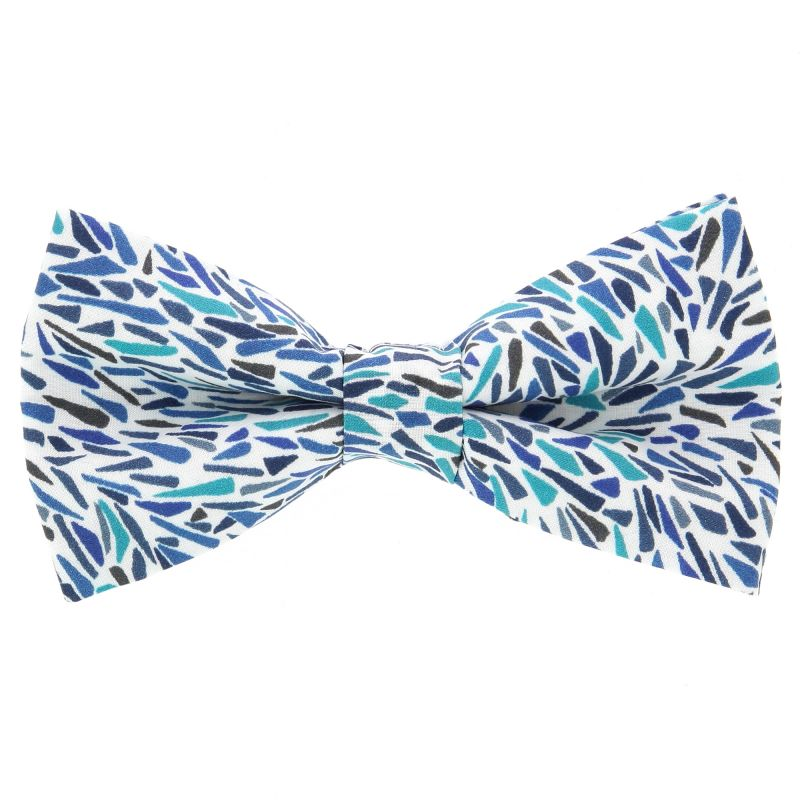 Blue Bow Tie with Liberty Neo-Impressionist Pattern The Nines