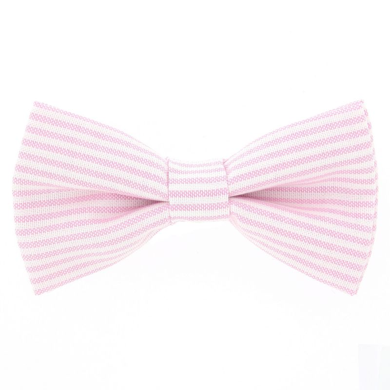 Bow Tie with Light Pink Stripes The Nines