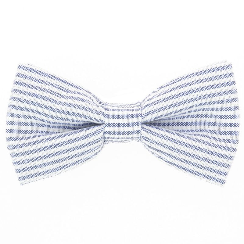 Bow Tie with Navy Blue Stripes The Nines