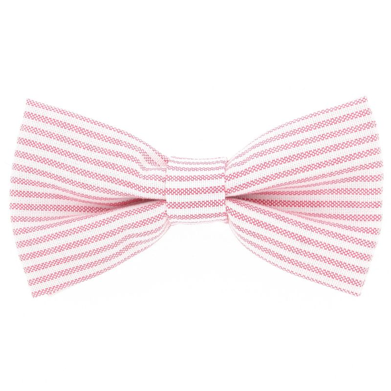 Bow Tie with Pink Stripes The Nines