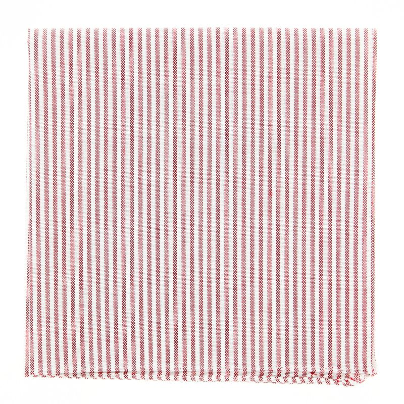Pocket square with Red Stripes The Nines