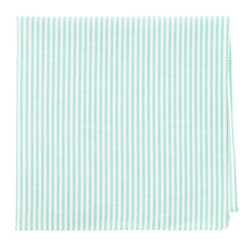 Pocket square with Green Stripes The Nines