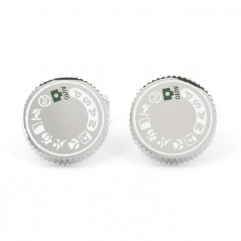 Photo camera cufflinks - Leica