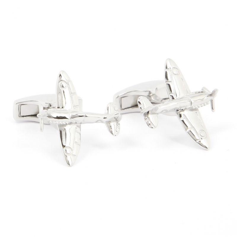 Airplane cufflinks sterling silver - Spitfire