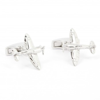 Airplane cufflinks sterling silver - Spitfire
