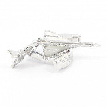 Airplane cufflinks sterling silver - Concorde