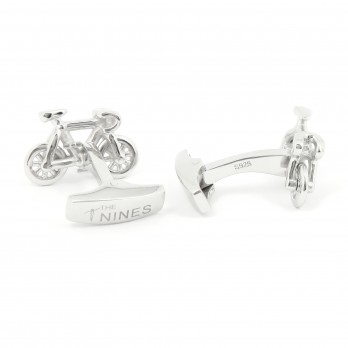 Bike Sterling Silver cufflinks - Tourmalet