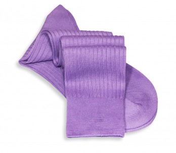 Scottish lisle thread knee socks in lavender blue