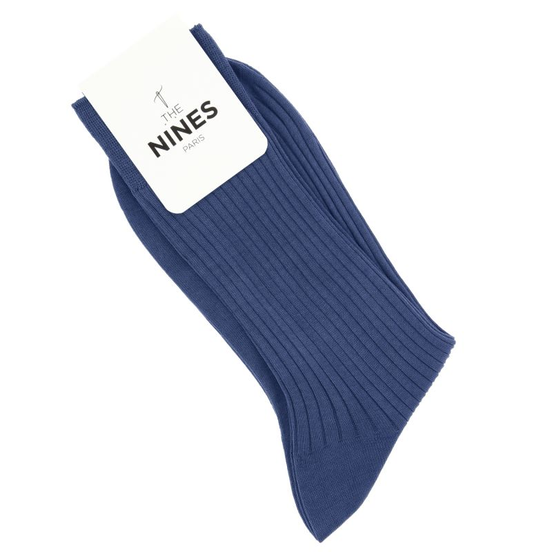 Dark blue scottish lisle thread socks