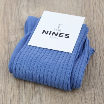 Light Blue cotton lisle socks