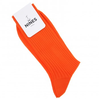 cotton lisle socks in vitamin orange