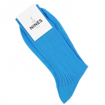 Turquoise cotton lisle socks