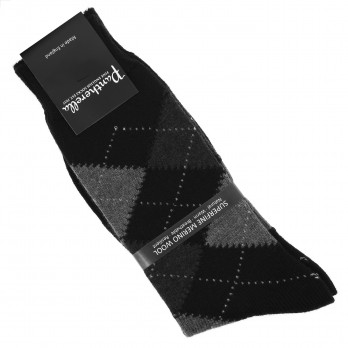 Pantherella jacquard pattern virgin wool socks