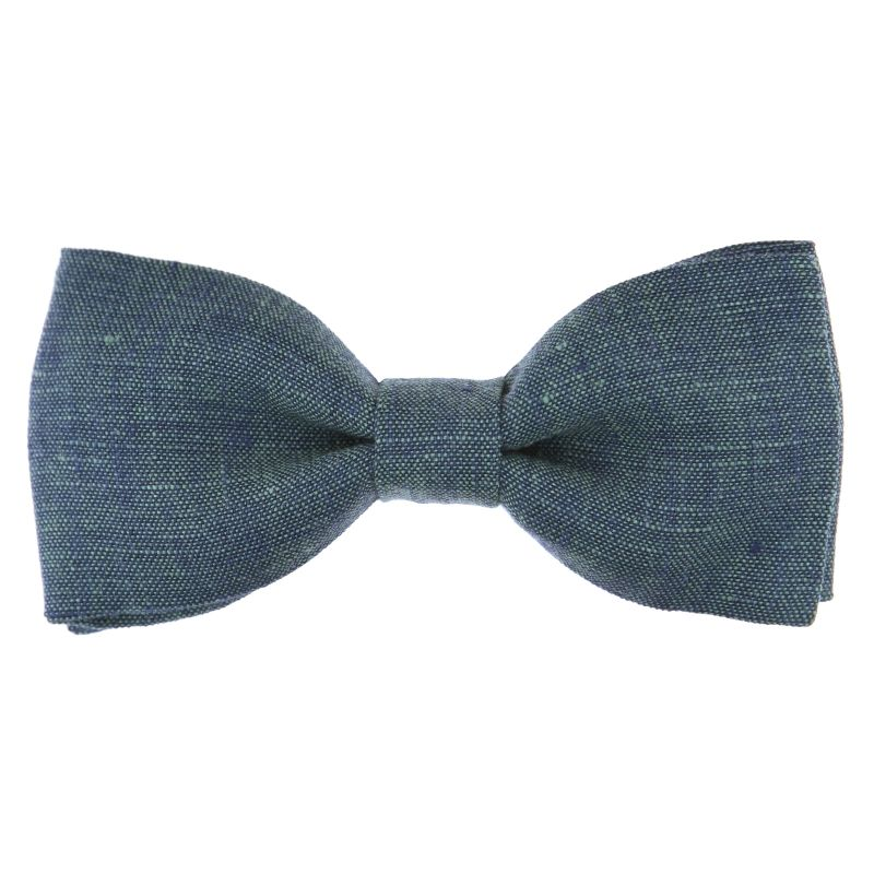 Green Bow Tie in Washed Linen