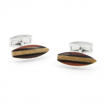 Wooden surf cufflinks - Parlementia