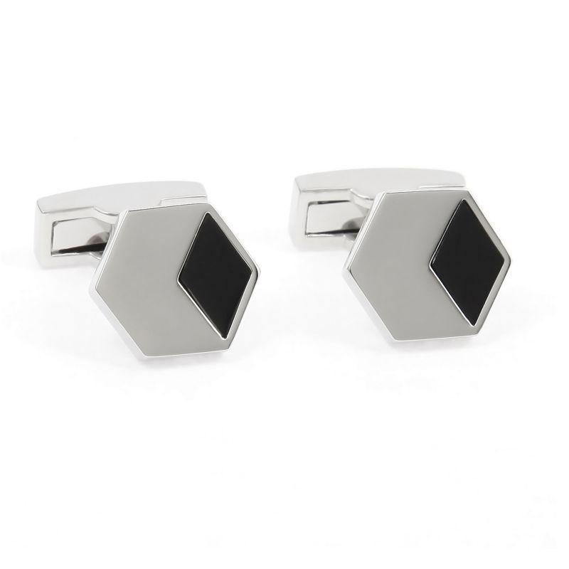 Silver onyx cufflinks - Amorgos