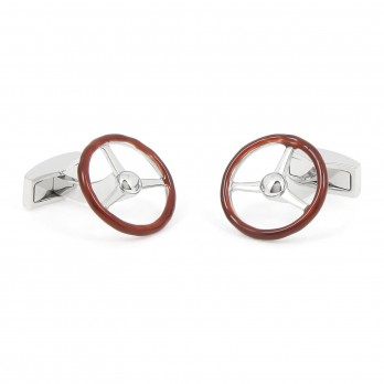 Retro steering wheel cufflinks - Boavista