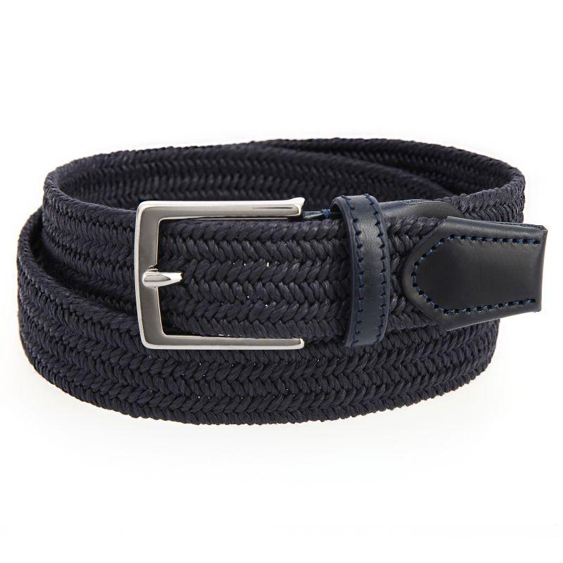 Navy blue linen belt - Max