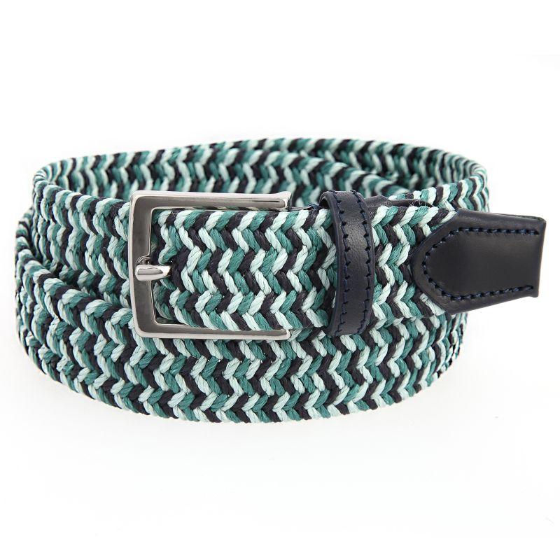 Green linen belt - Max