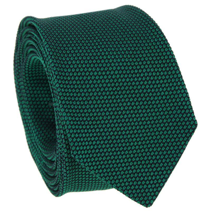 Green and Navy Blue Grenadine Silk Tie - Grenadine VI