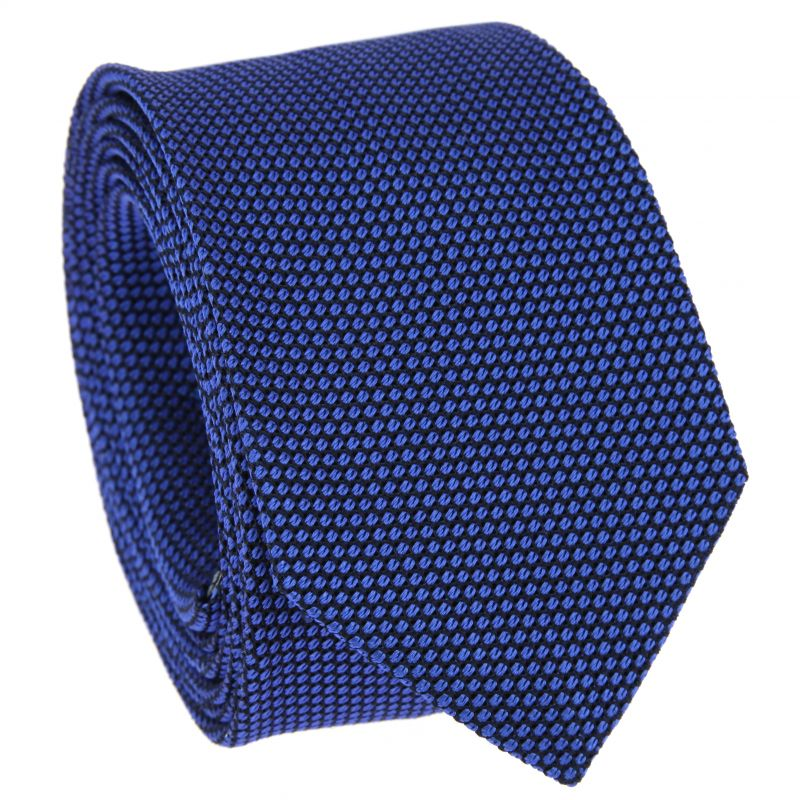Blue and Navy Blue Grenadine Silk Tie - Grenadine VI
