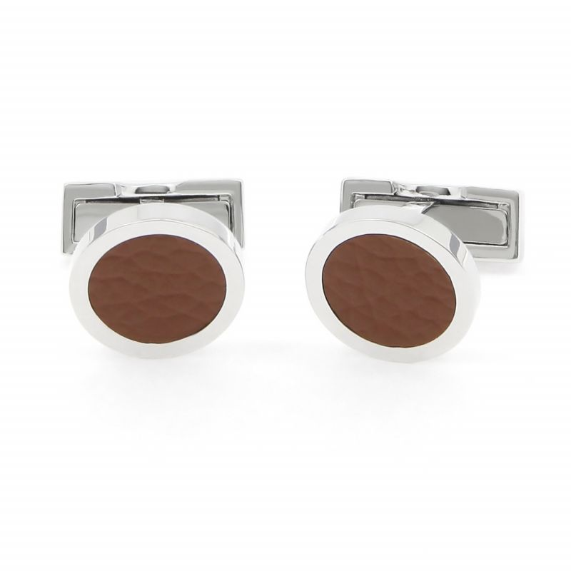 Leather cufflinks - Vienna