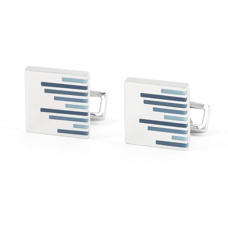Blue striped cufflinks - Saint Briac