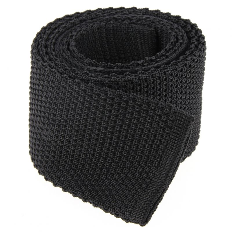 Anthracite grey knit tie - Monza