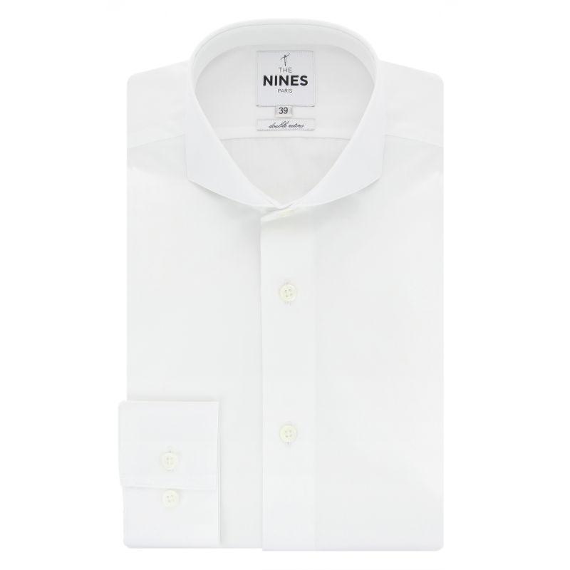 White cutaway collar shirt