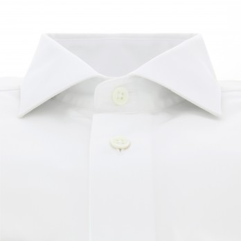 White shark collar shirt Slim-fit