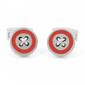 Red cufflinks - Baltimore