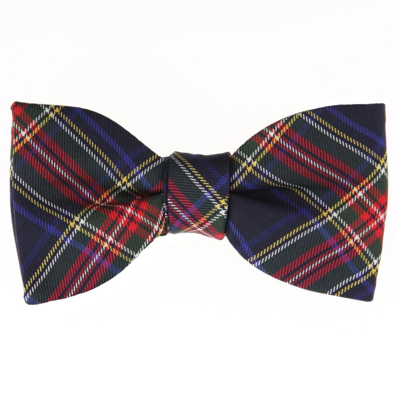 Bow Tie with Navy Blue Tartan The Nines