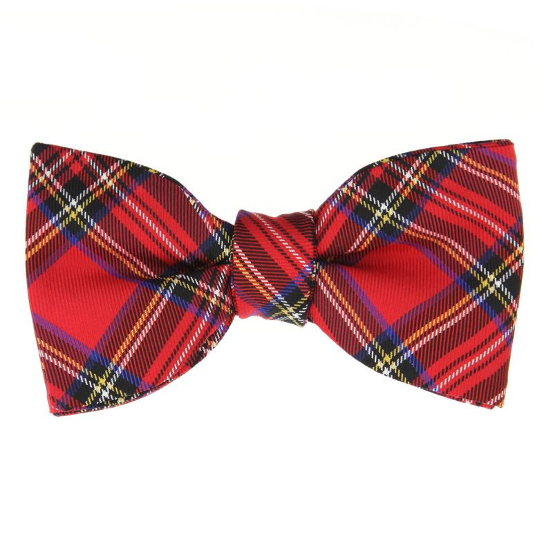 Bow Tie with Red Tartan The Nines