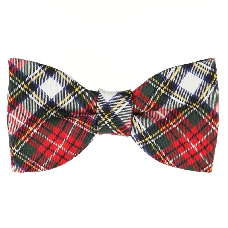 Bow Tie with Red and White Tartan The Nines