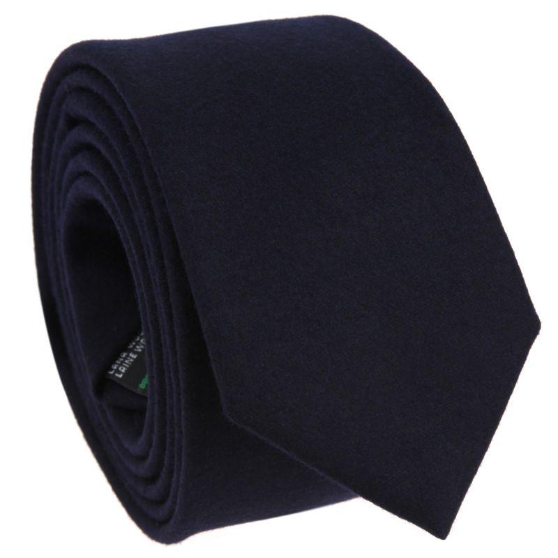 Navy Blue Tie in Flannel The Nines
