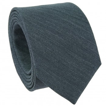 Dark Green Tie in Basket Weave Silk