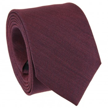 Burgundy Tie in Basket Weave Silk