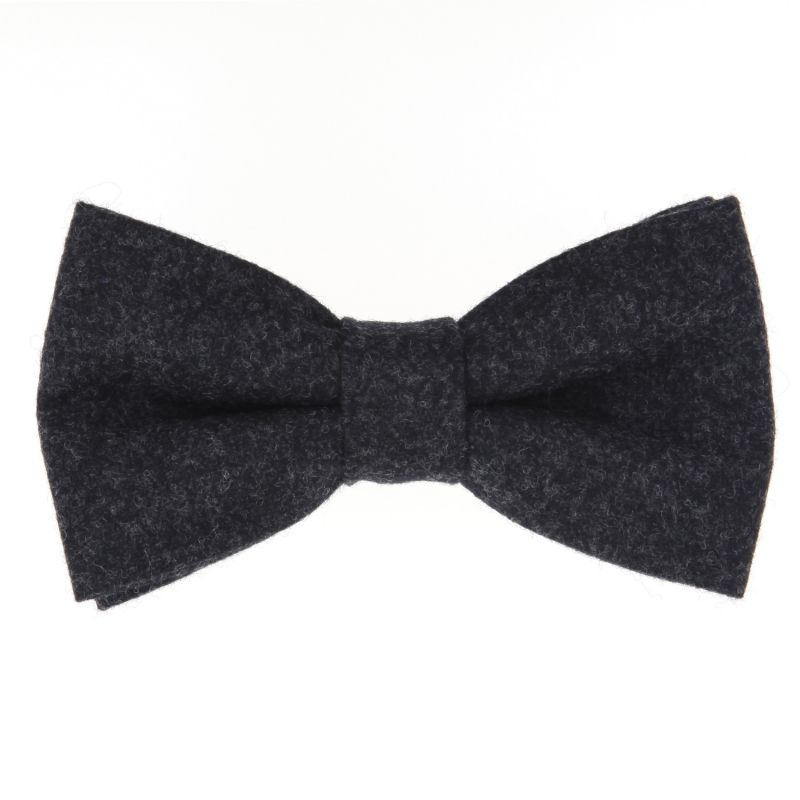 Grey Bow Tie in Flannel The Nines