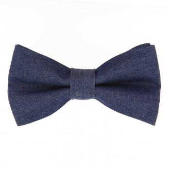 Blue Bow Tie in Bio Denim