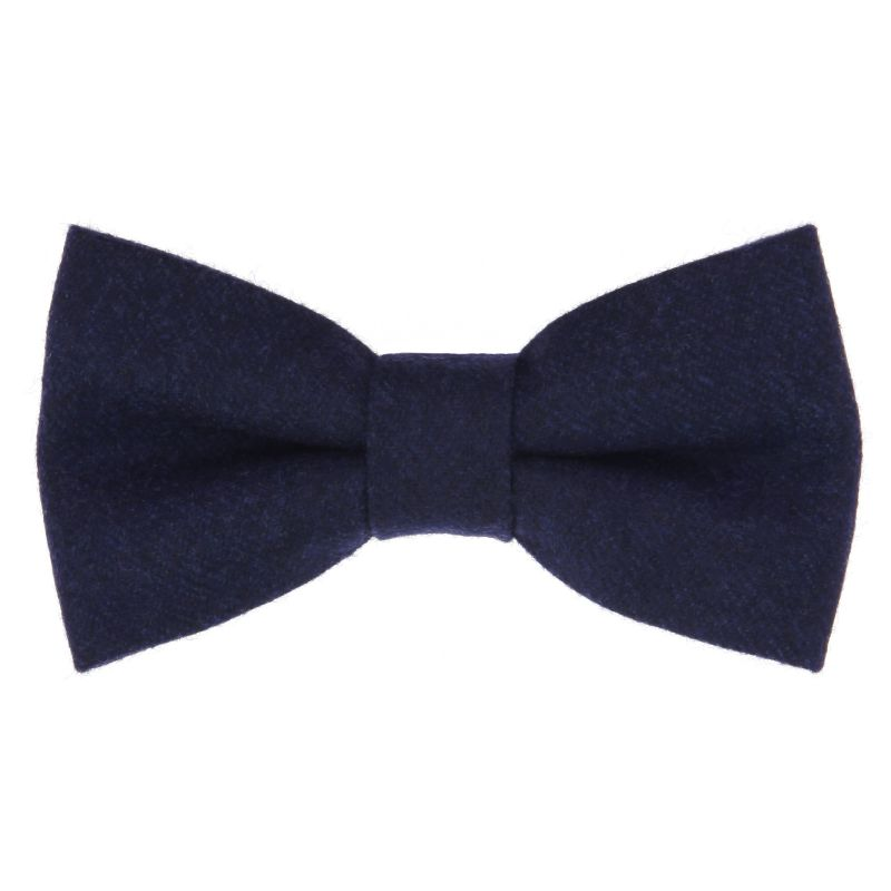 Blue Bow Tie in Flannel